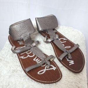 Sam Edelman Ginnie Ankle Cuff Sandals Silver
